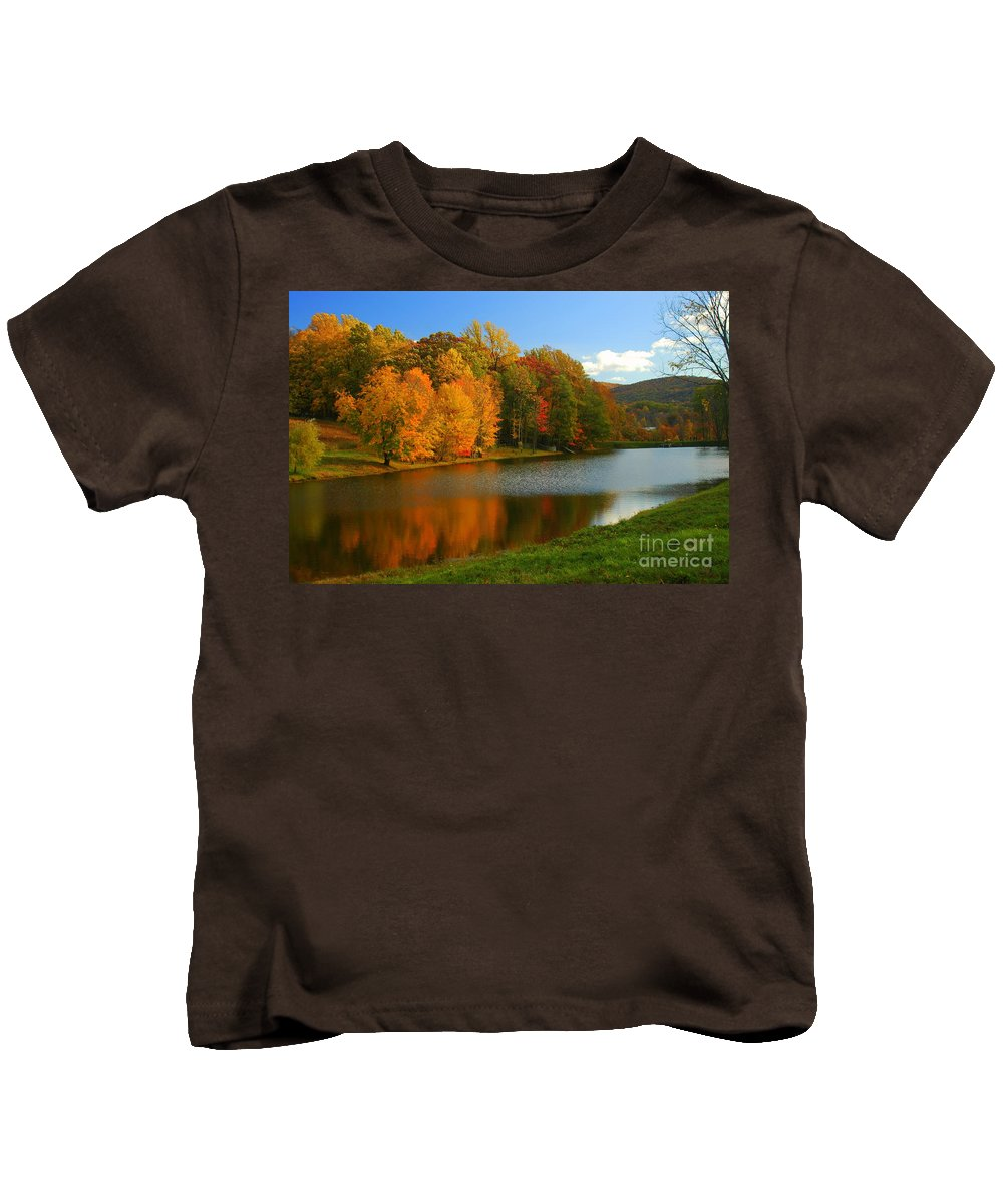 Stormking Kids T-Shirt featuring the photograph Fall In New York State by Mark Gilman