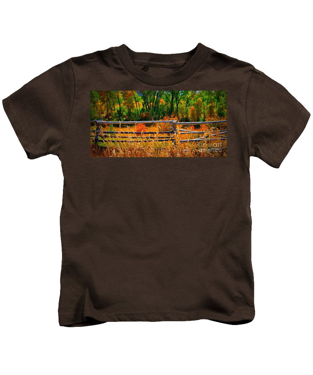 Landscape Kids T-Shirt featuring the photograph Fall by Janice Westerberg