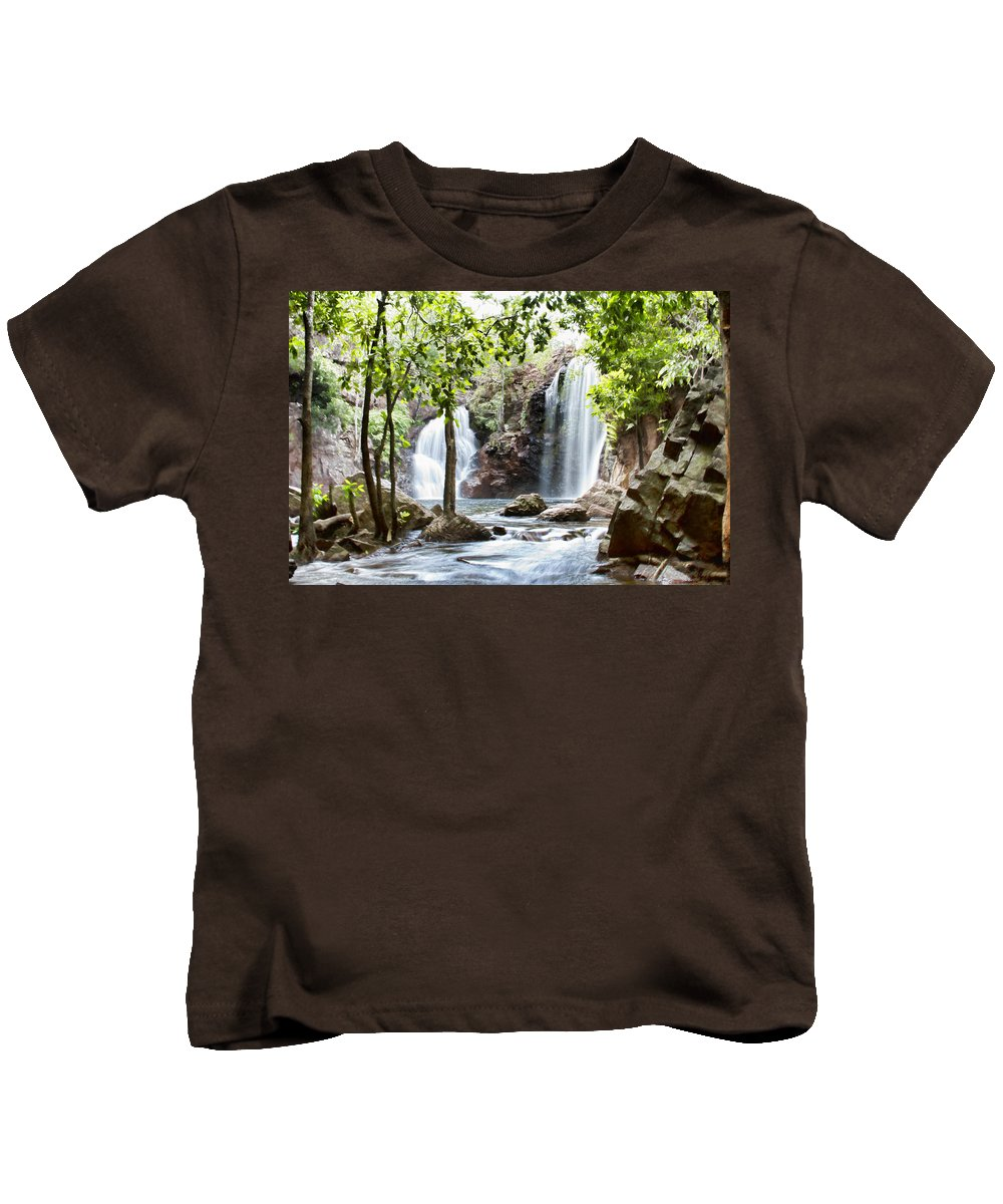 Florence Falls Kids T-Shirt featuring the photograph Florence Falls by Douglas Barnard