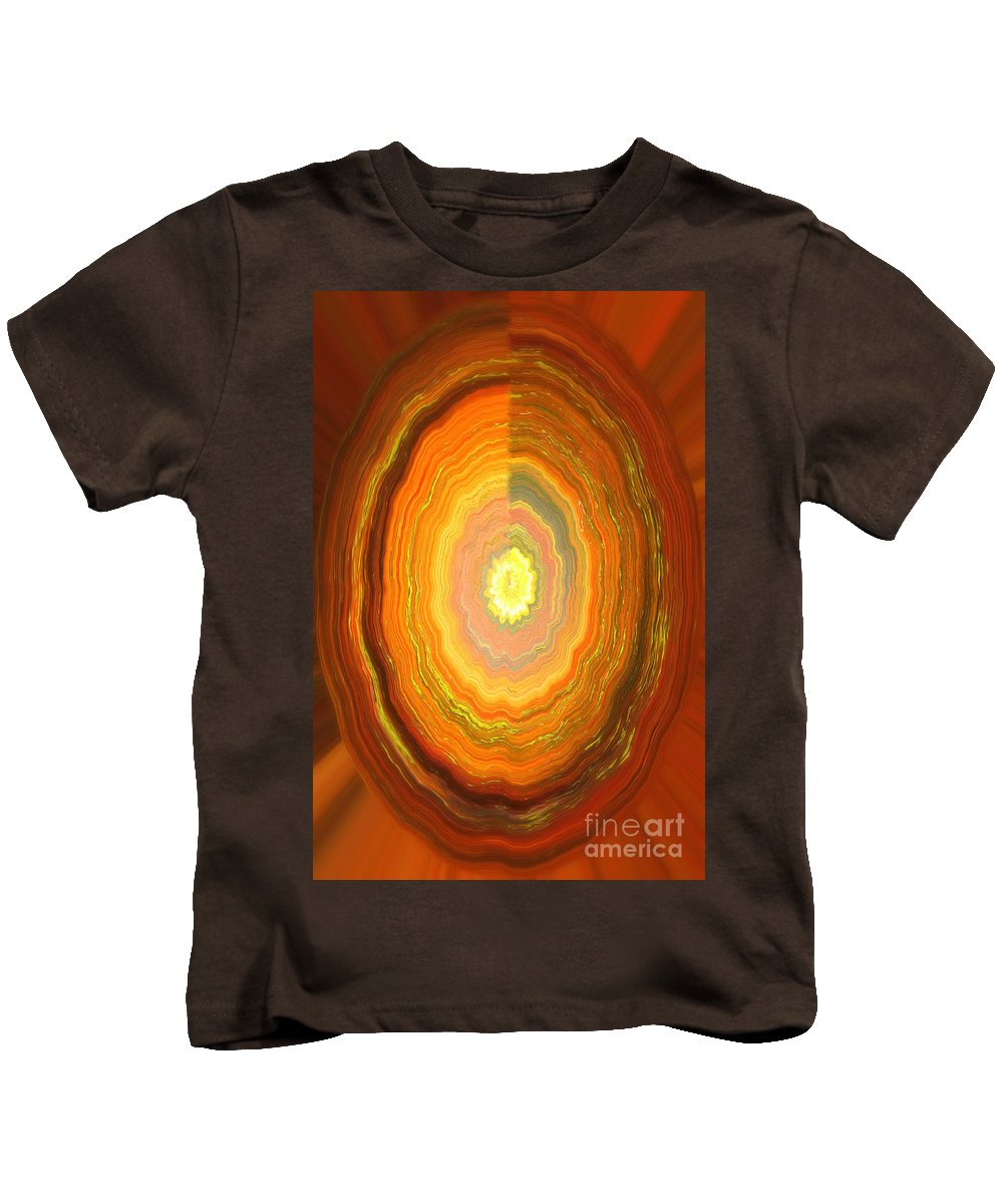 Abstract Kids T-Shirt featuring the photograph Focus On Your Inner Strength by Carol Groenen