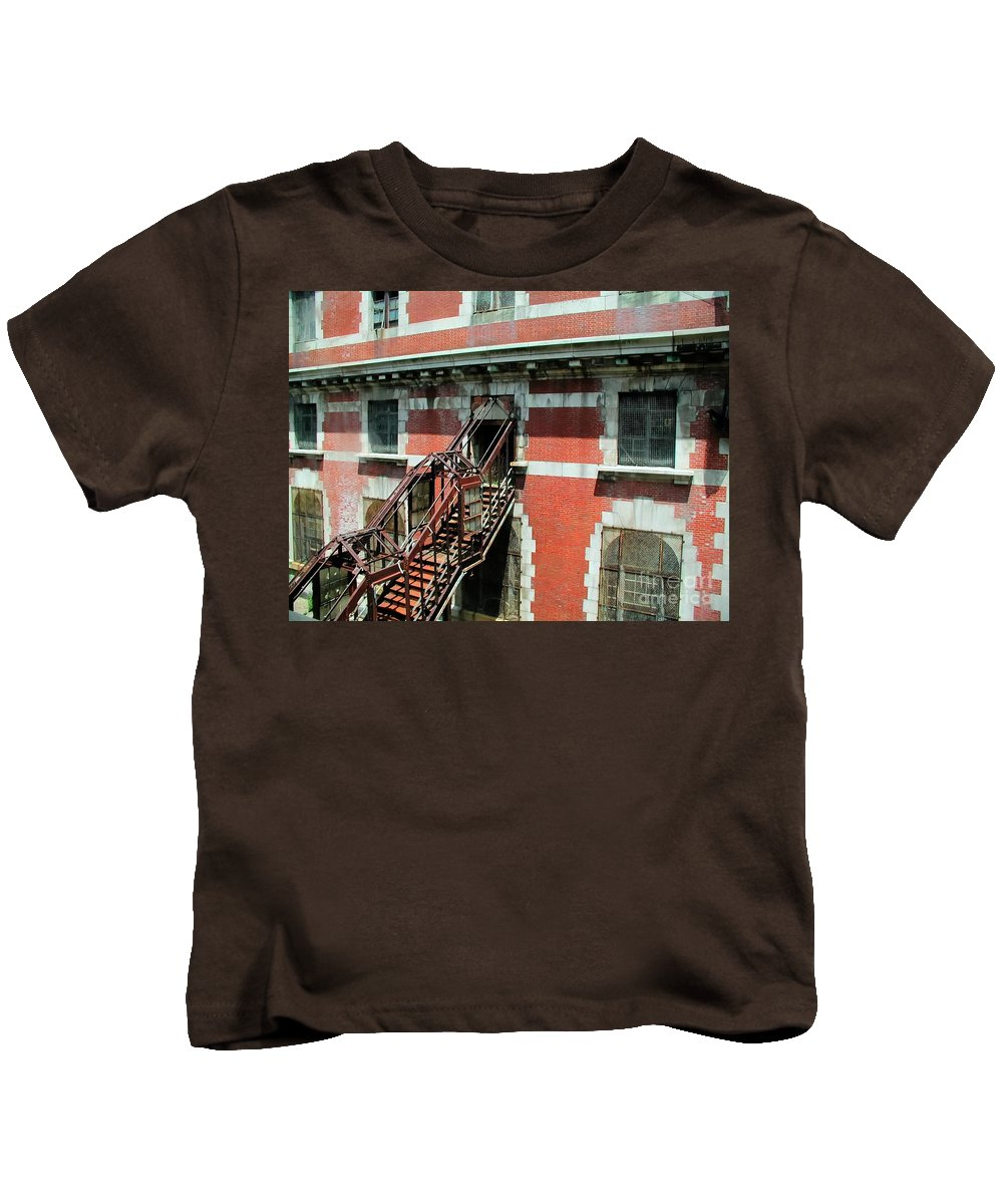 Ellis Island Kids T-Shirt featuring the photograph Freedom by Tap On Photo