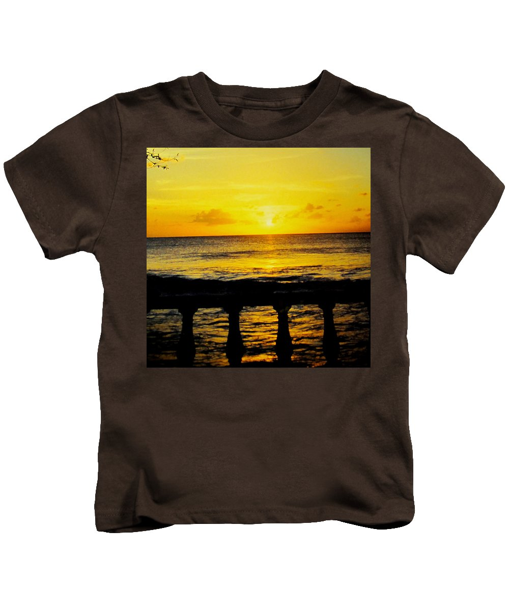 Barbados Kids T-Shirt featuring the photograph From The Terrace by Ian MacDonald