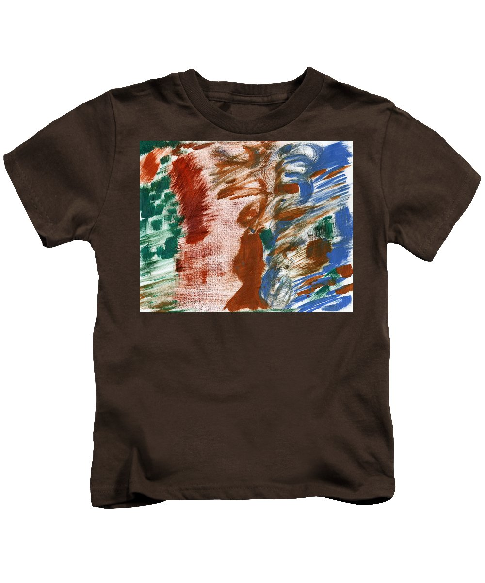 Gender Indeterminent Kids T-Shirt featuring the painting Gender Indeterminent by Taylor Webb