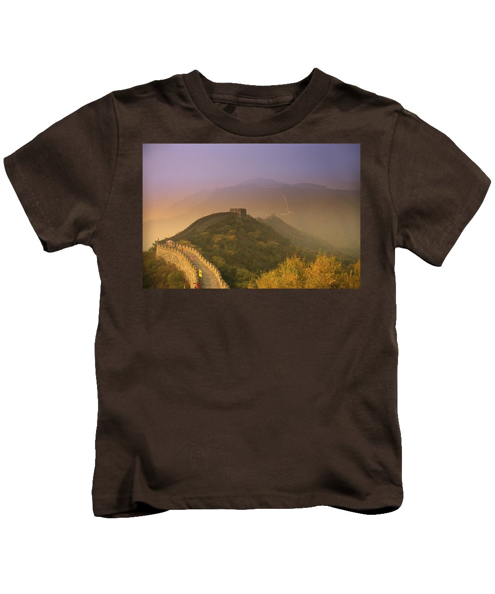 Asian Art Kids T-Shirt featuring the photograph Great Wall by Gloria and Richard Maschmeyer - Printscapes