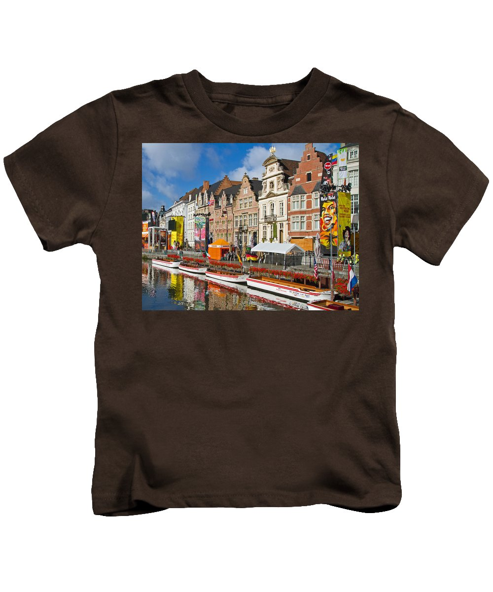 Europe Kids T-Shirt featuring the photograph Guild Houses by David Freuthal