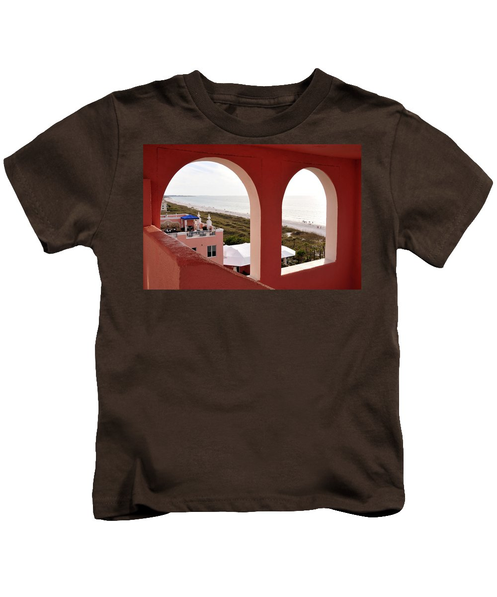 Fine Art Photography Kids T-Shirt featuring the photograph Gulf View by David Lee Thompson