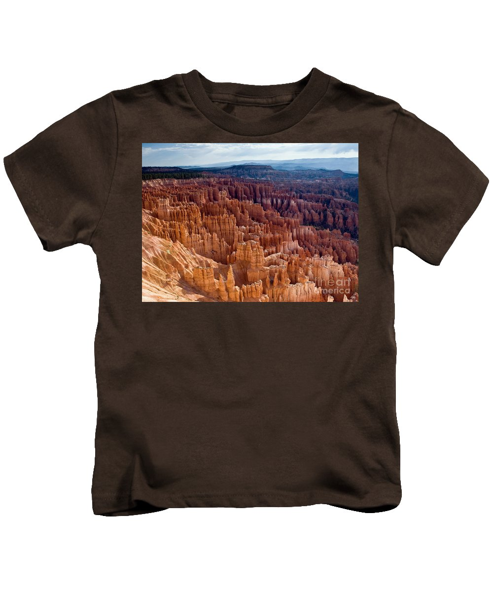 Bryce Canyon National Park Kids T-Shirt featuring the photograph Inspiration Point by Jim Chamberlain