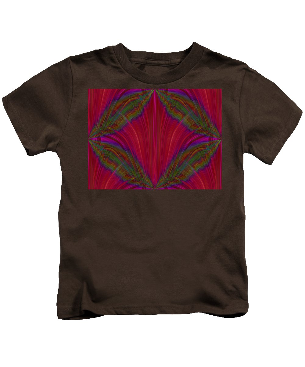 Abstract Kids T-Shirt featuring the digital art Layers Of The Flame by Tim Allen