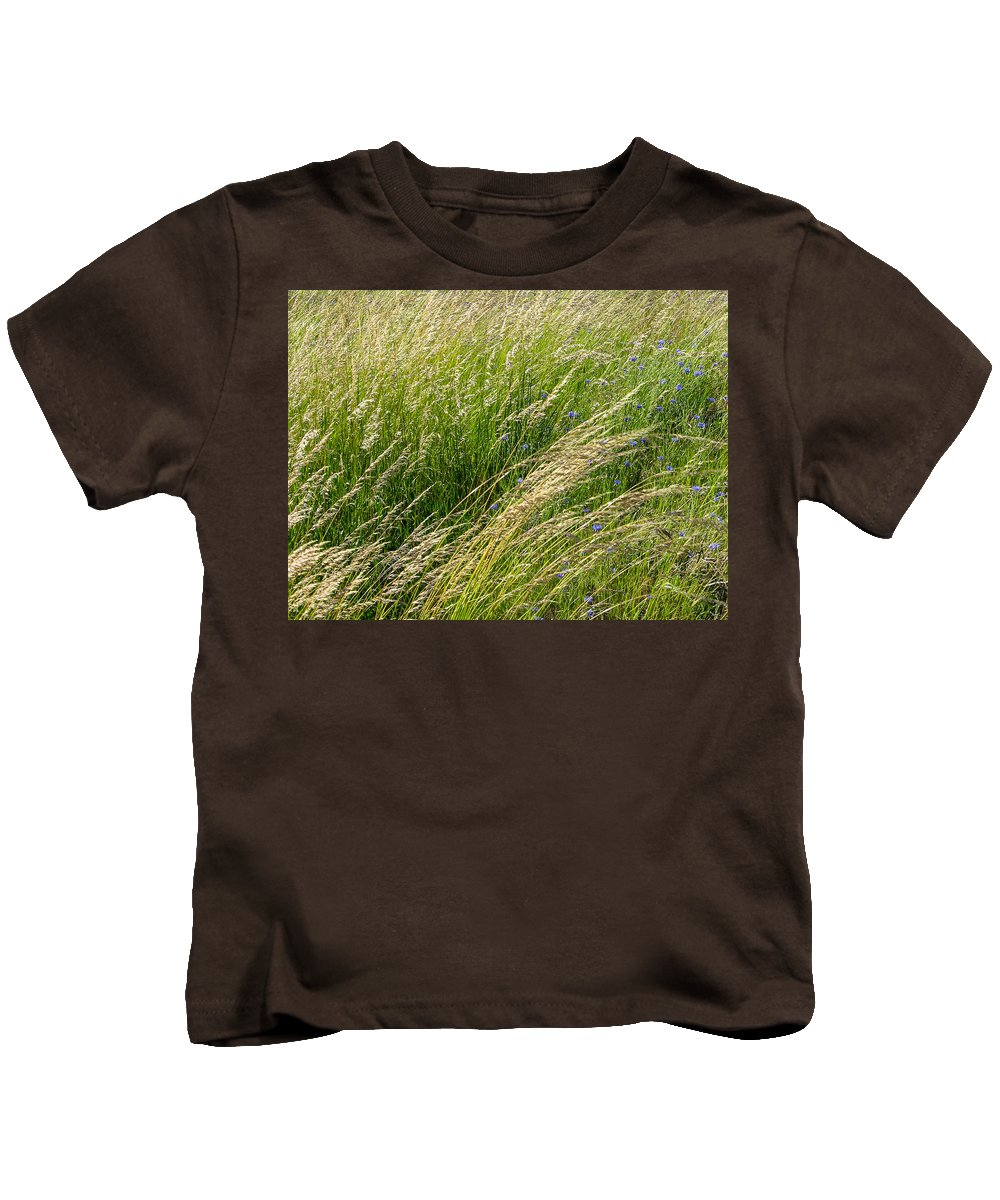 Grass Kids T-Shirt featuring the photograph Leaves Of Grass by Mike Penney