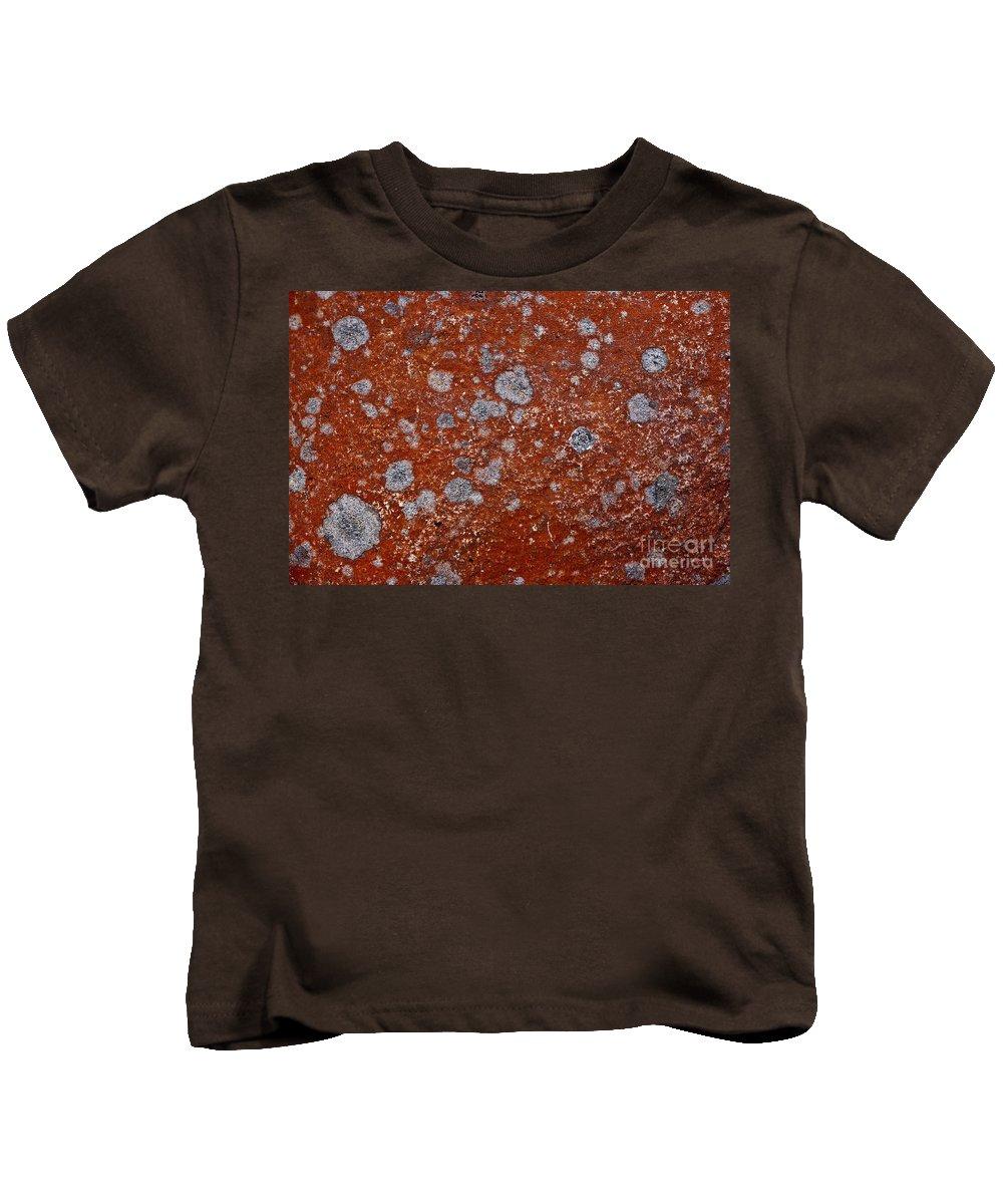 Lichen Kids T-Shirt featuring the photograph Lichen Pattern Series - 9 by Heiko Koehrer-Wagner