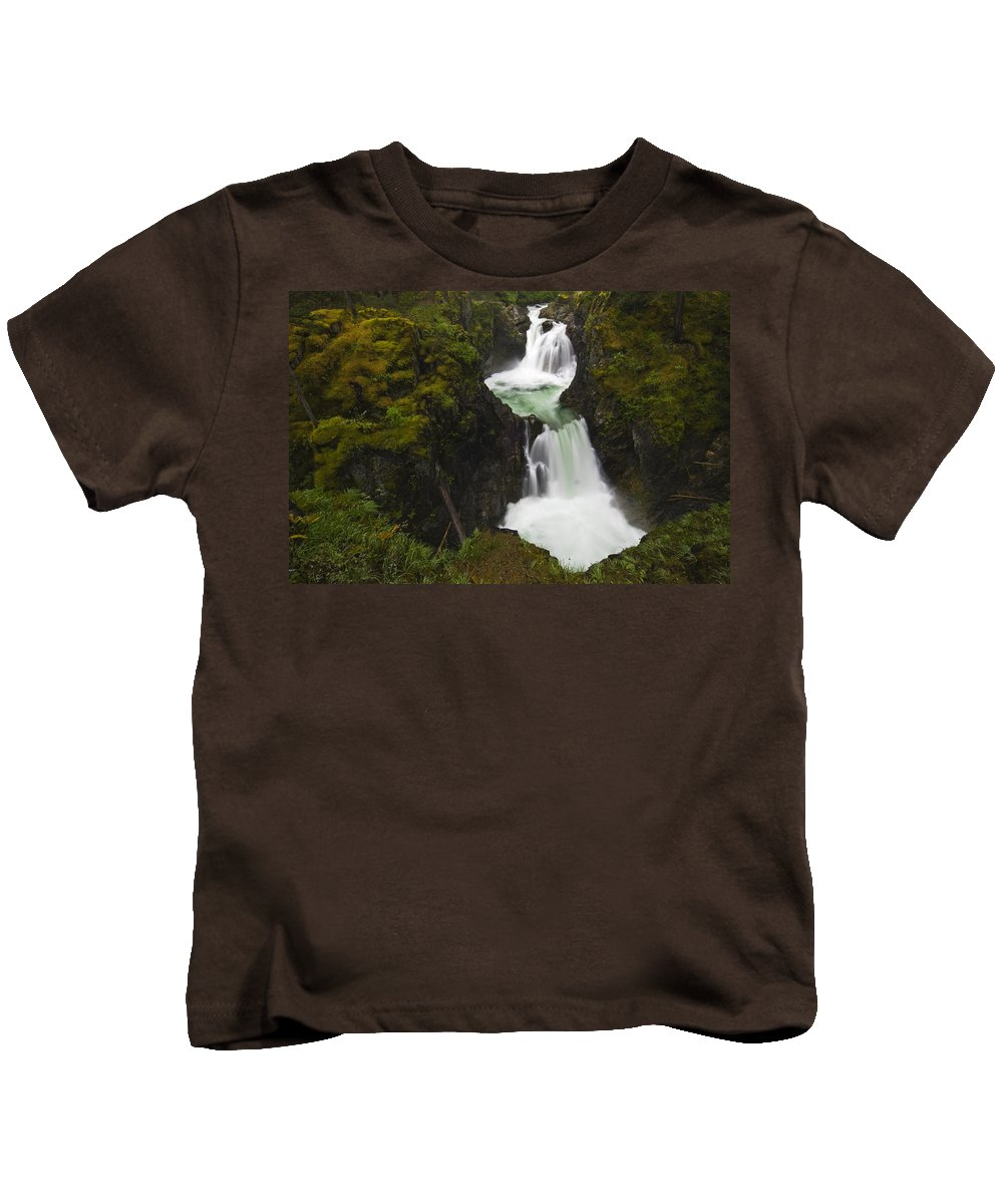 Color Images Kids T-Shirt featuring the photograph Little Qualicum Falls Provincial Park by Mike Grandmailson