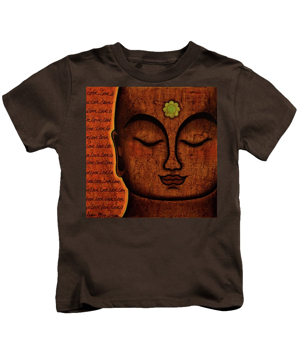 Buddha Kids T-Shirt featuring the painting Love by Gloria Rothrock