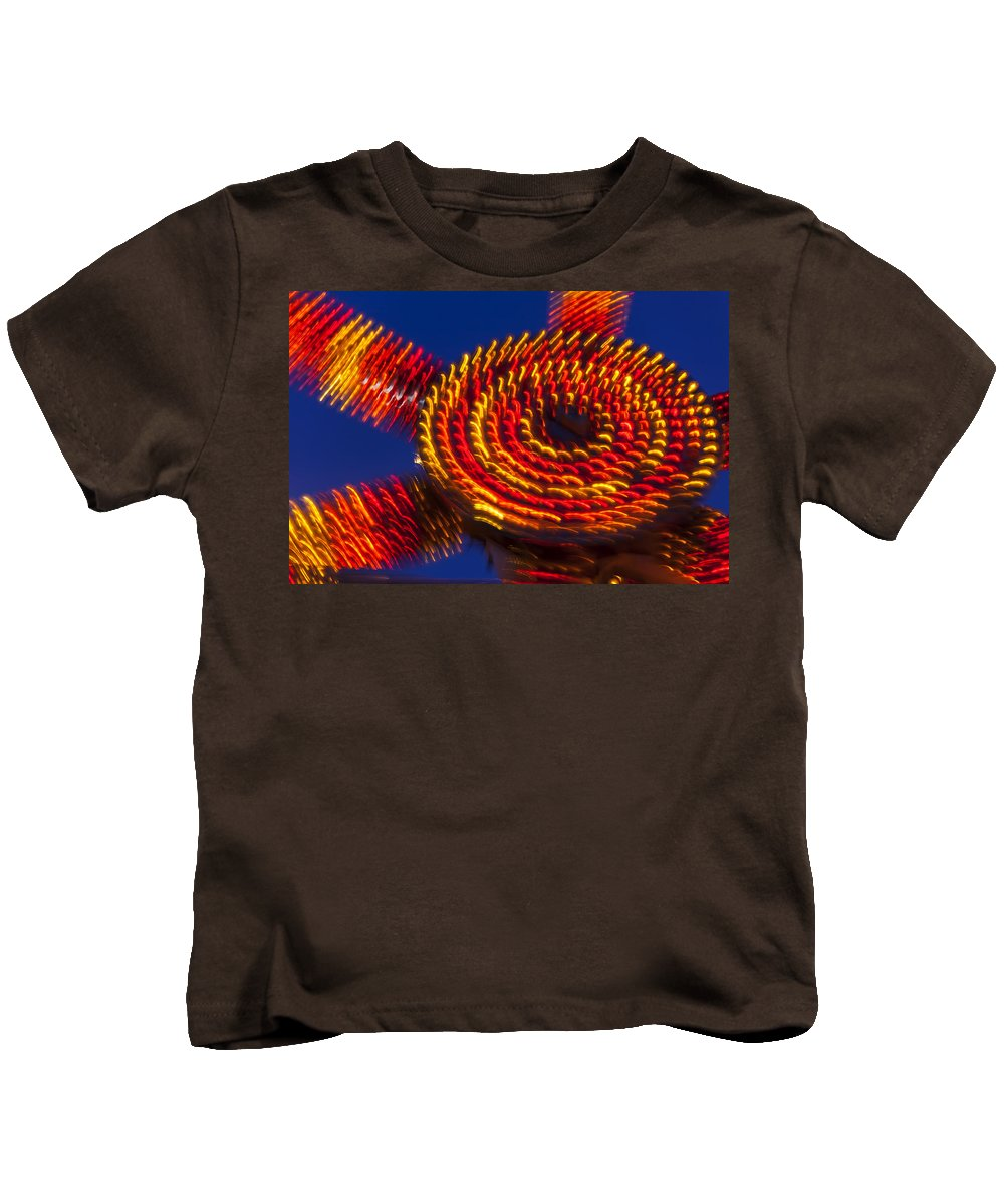 Carnival Kids T-Shirt featuring the photograph Magic Lights by Garry Gay