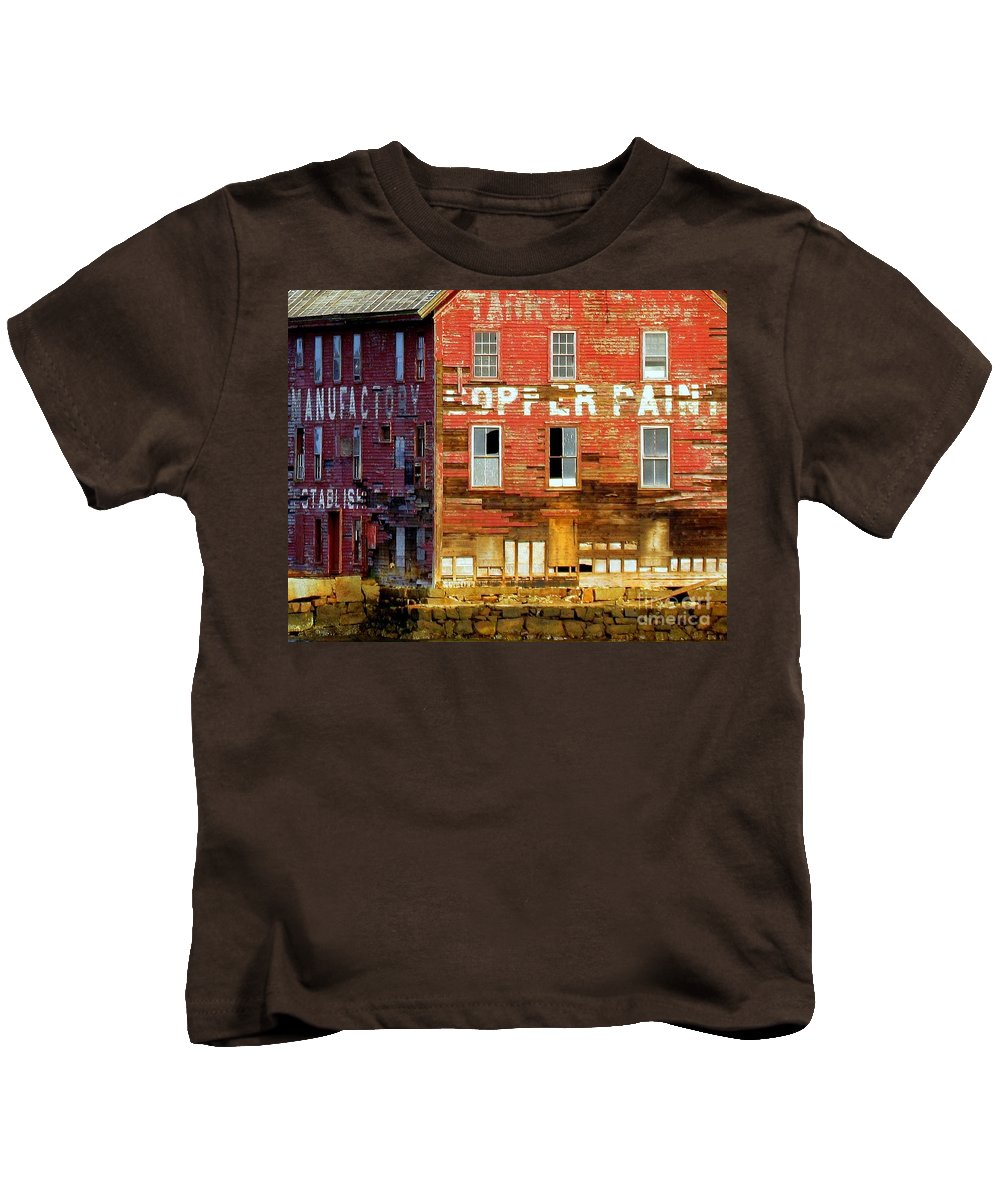Buildings Kids T-Shirt featuring the photograph Manufactory by Lori Pessin Lafargue