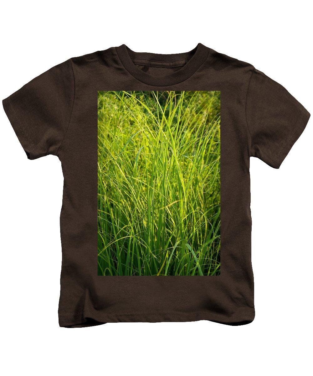 Prairie Kids T-Shirt featuring the photograph Midwest Prairie Grasses by Steve Gadomski