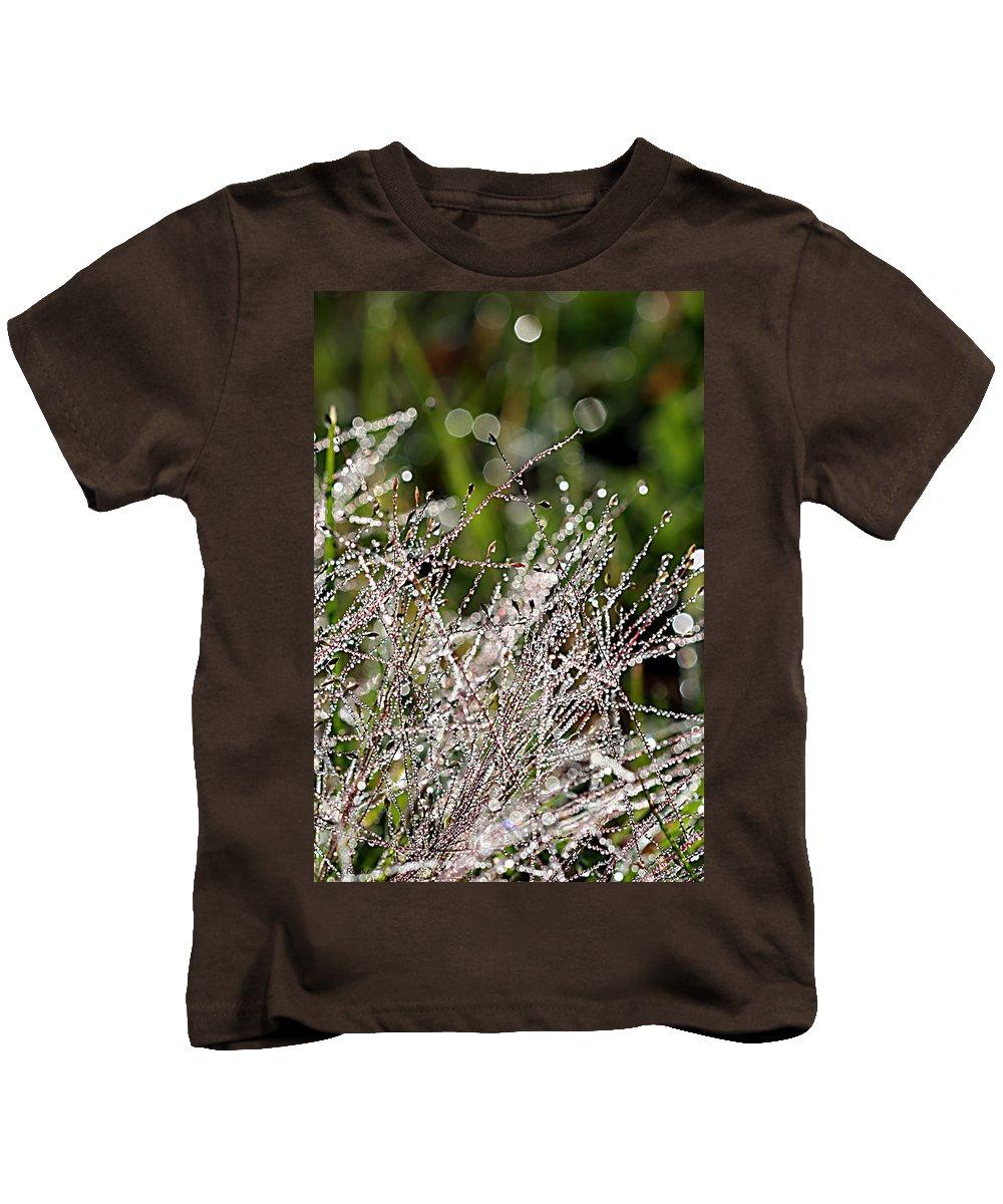 Lauren Radke Kids T-Shirt featuring the photograph Morning Dew by Lauren Radke