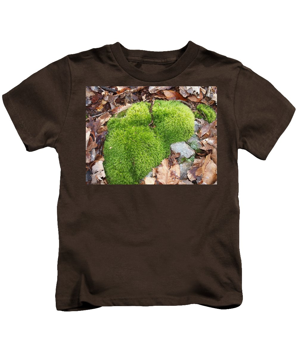 Rock Kids T-Shirt featuring the photograph Moss On A Rock by Robert Margetts