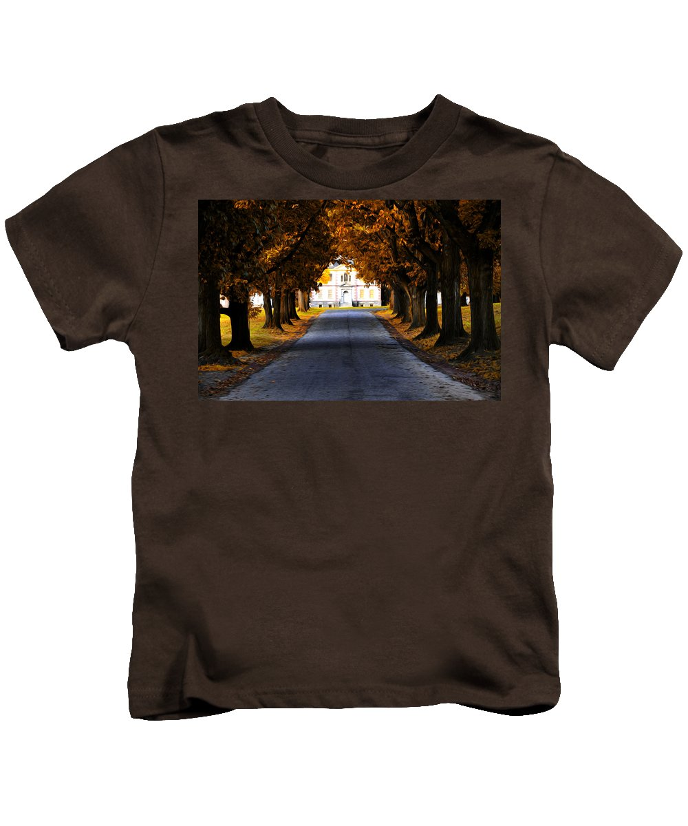 Mount Pleasant Mansion - Philadelphia Kids T-Shirt featuring the photograph Mount Pleasant Mansion - Philadelphia by Bill Cannon