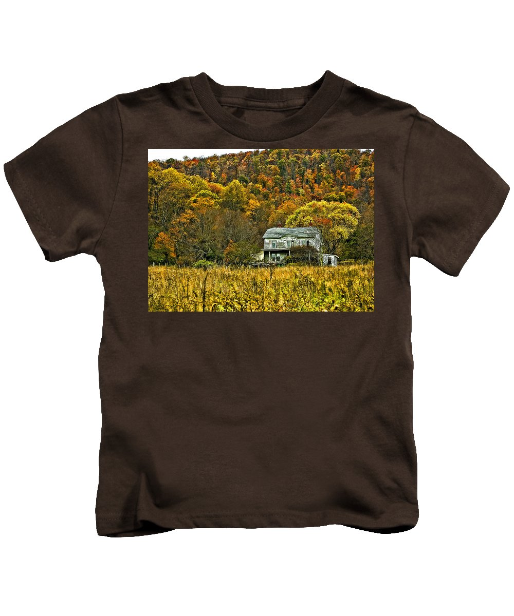 West Virginia Kids T-Shirt featuring the photograph Mountain Home Painted by Steve Harrington