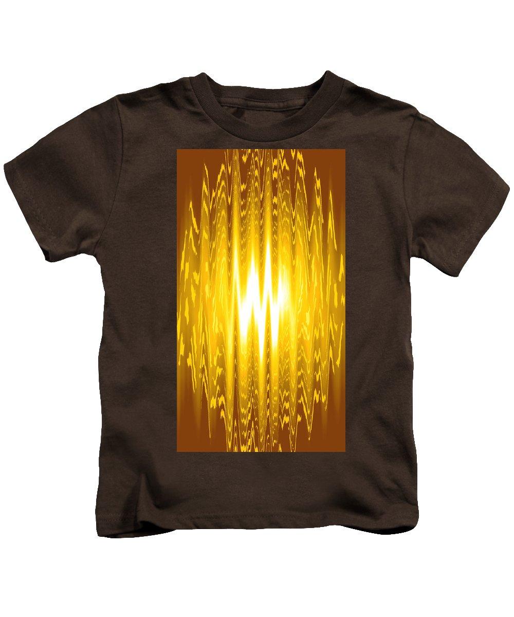 Moveonart! Global Gathering. -- Digital Abstract Art By Artist Jacob Kane -- Omnetra Kids T-Shirt featuring the digital art Moveonart Goldenopportunity by Jacob Kanduch