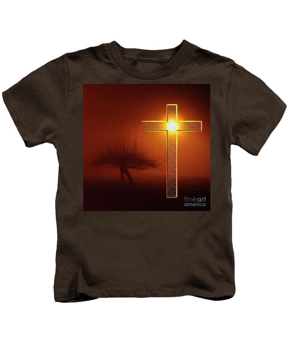 Clay Kids T-Shirt featuring the photograph My Life Cross by Clayton Bruster