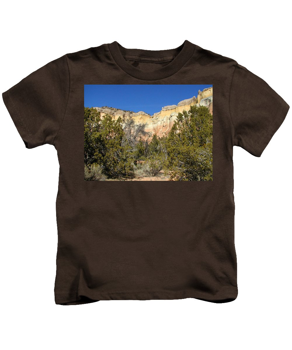 New Mexico Kids T-Shirt featuring the photograph New Mexico Series - Bandelier I by Kathleen Grace