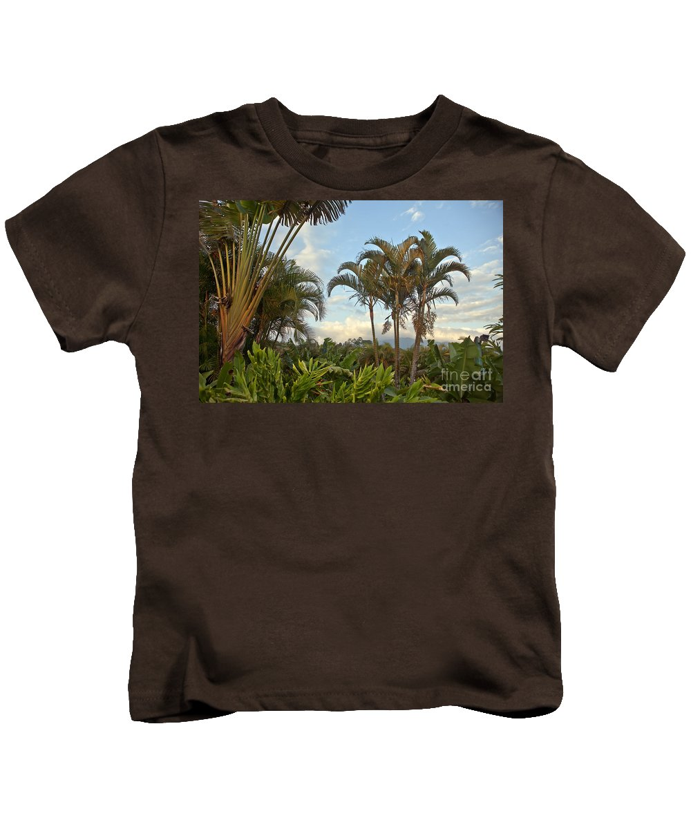 Palm Kids T-Shirt featuring the photograph Palms In Costa Rica by Madeline Ellis