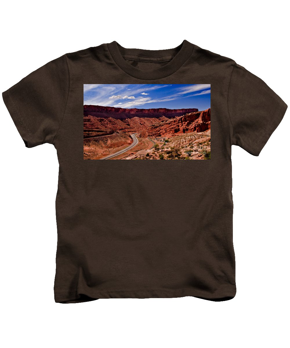 Arches National Park Kids T-Shirt featuring the photograph Panoramic View                            by Robert Bales