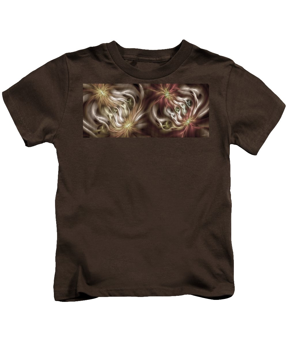 Abstract Kids T-Shirt featuring the digital art Parallelism 2 by Casey Kotas