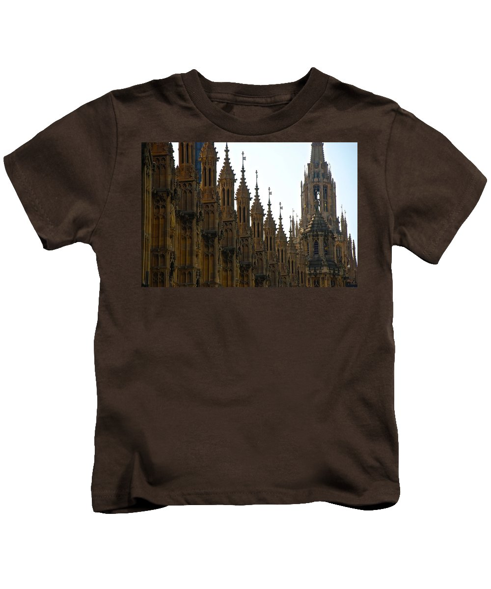 Parliament Kids T-Shirt featuring the photograph Parliament's Spires by Eric Tressler