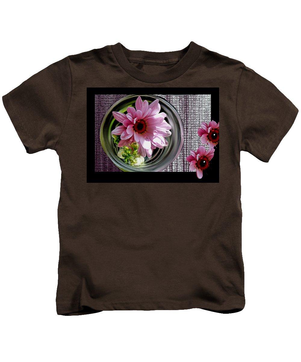 Daisy Kids T-Shirt featuring the photograph Peeking Eyes by Bonnie Willis
