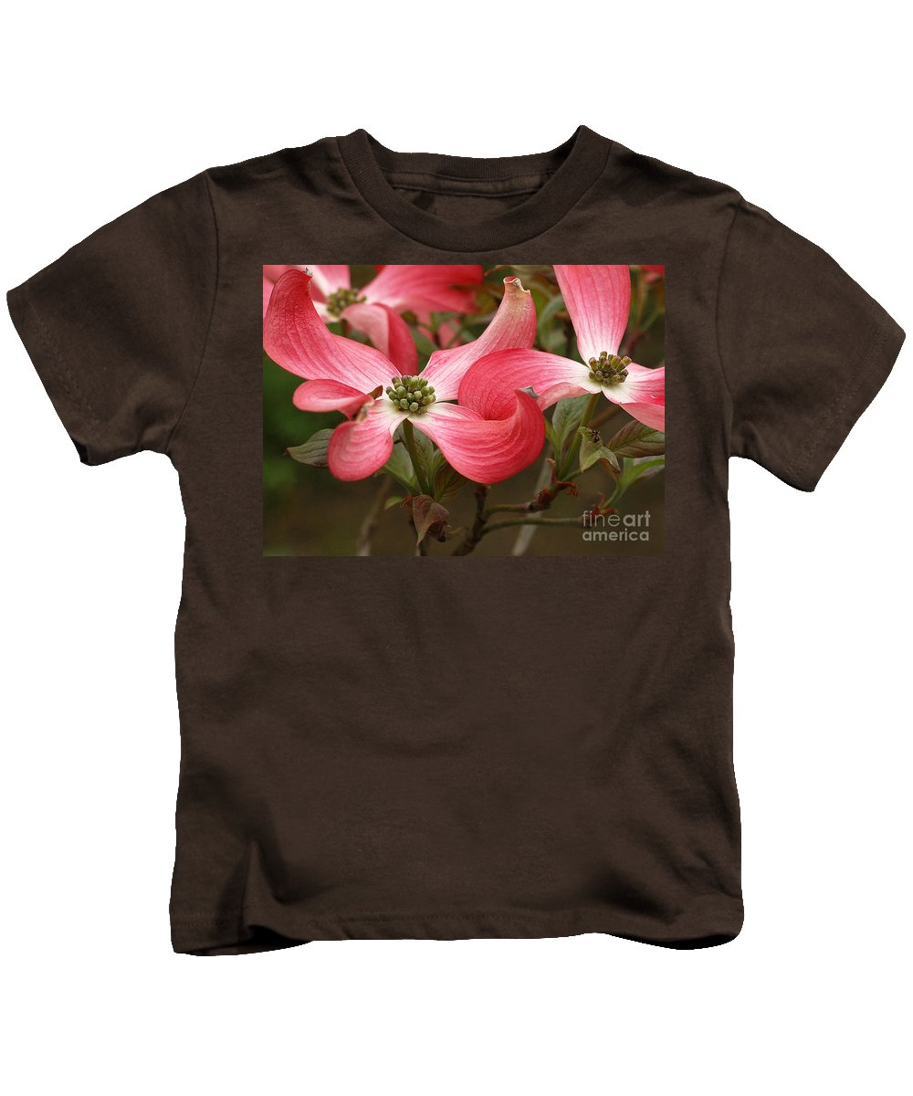 Pink Kids T-Shirt featuring the photograph Pink Dogwood by Mike Nellums