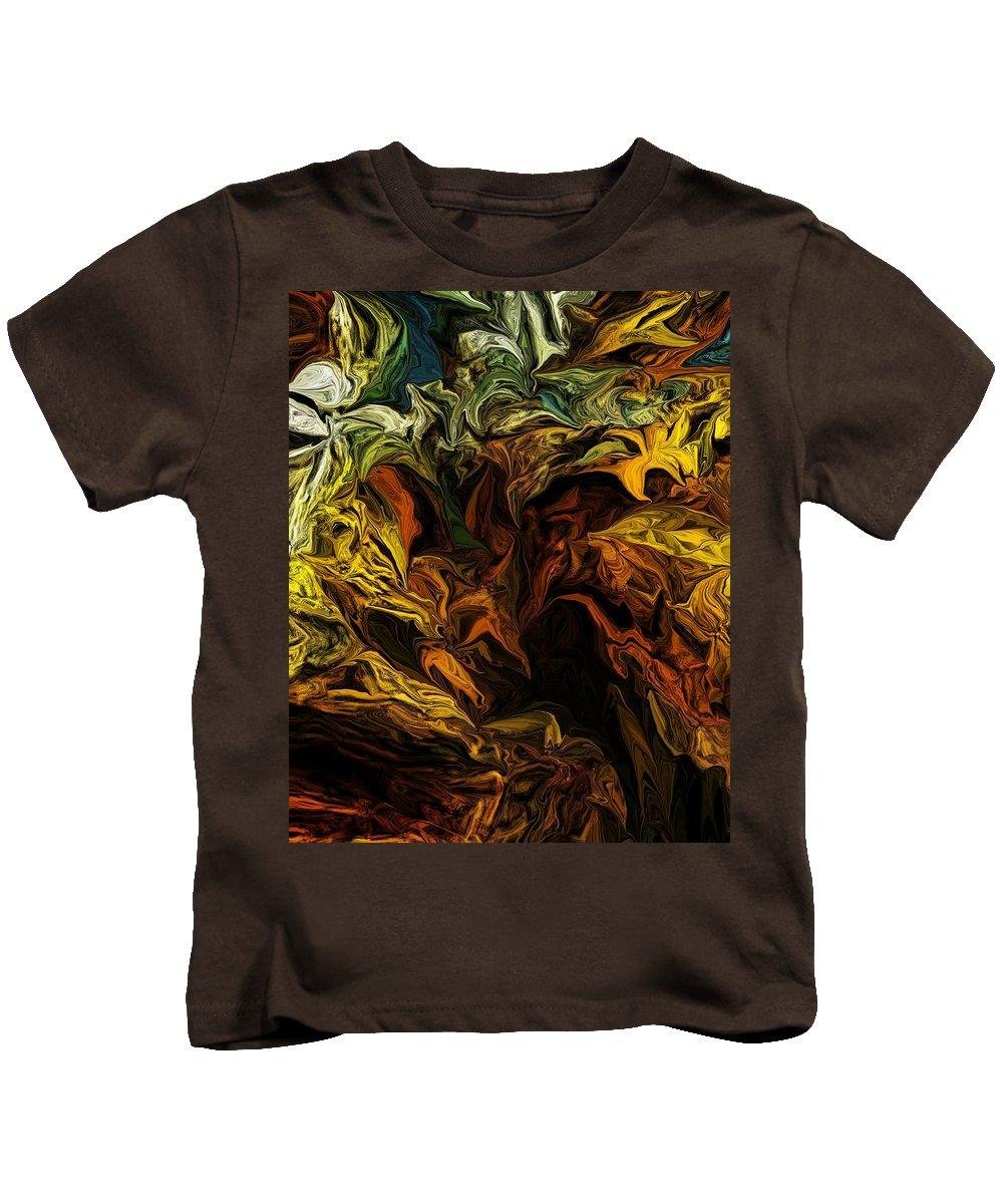 Fine Art Kids T-Shirt featuring the digital art Purgatory Rhapsody by David Lane