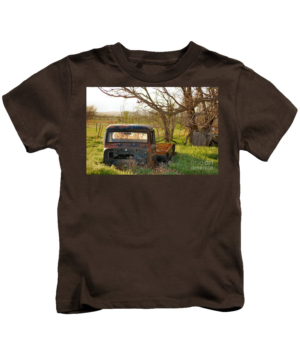 Truck Kids T-Shirt featuring the photograph Put Out To Pasture2 by Anjanette Douglas