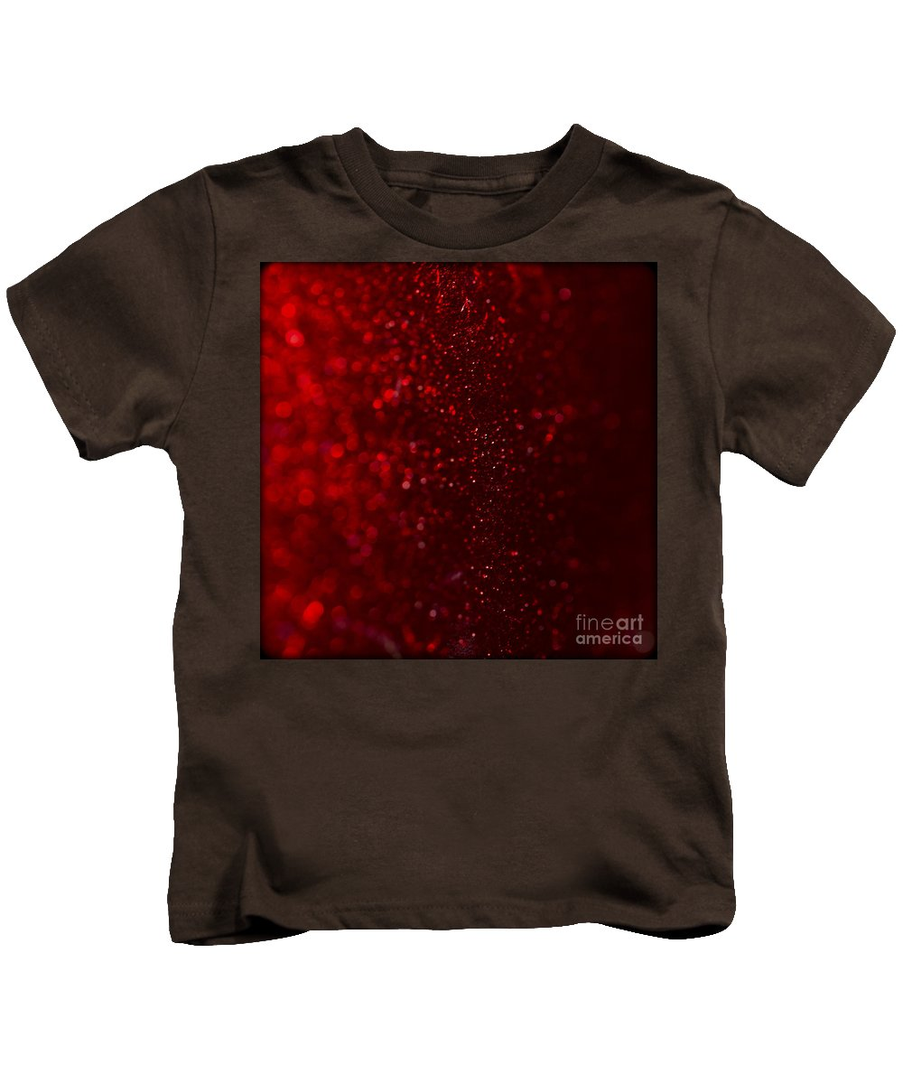 Clare Bambers Kids T-Shirt featuring the photograph Red Sparkle by Clare Bambers
