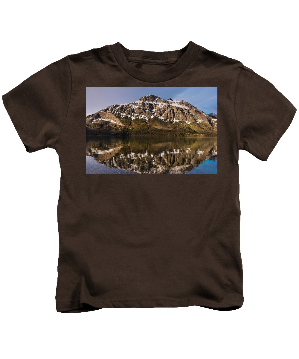 Red Eagle Mountain Kids T-Shirt featuring the photograph Reflections On Red Eagle Mountain by Greg Nyquist
