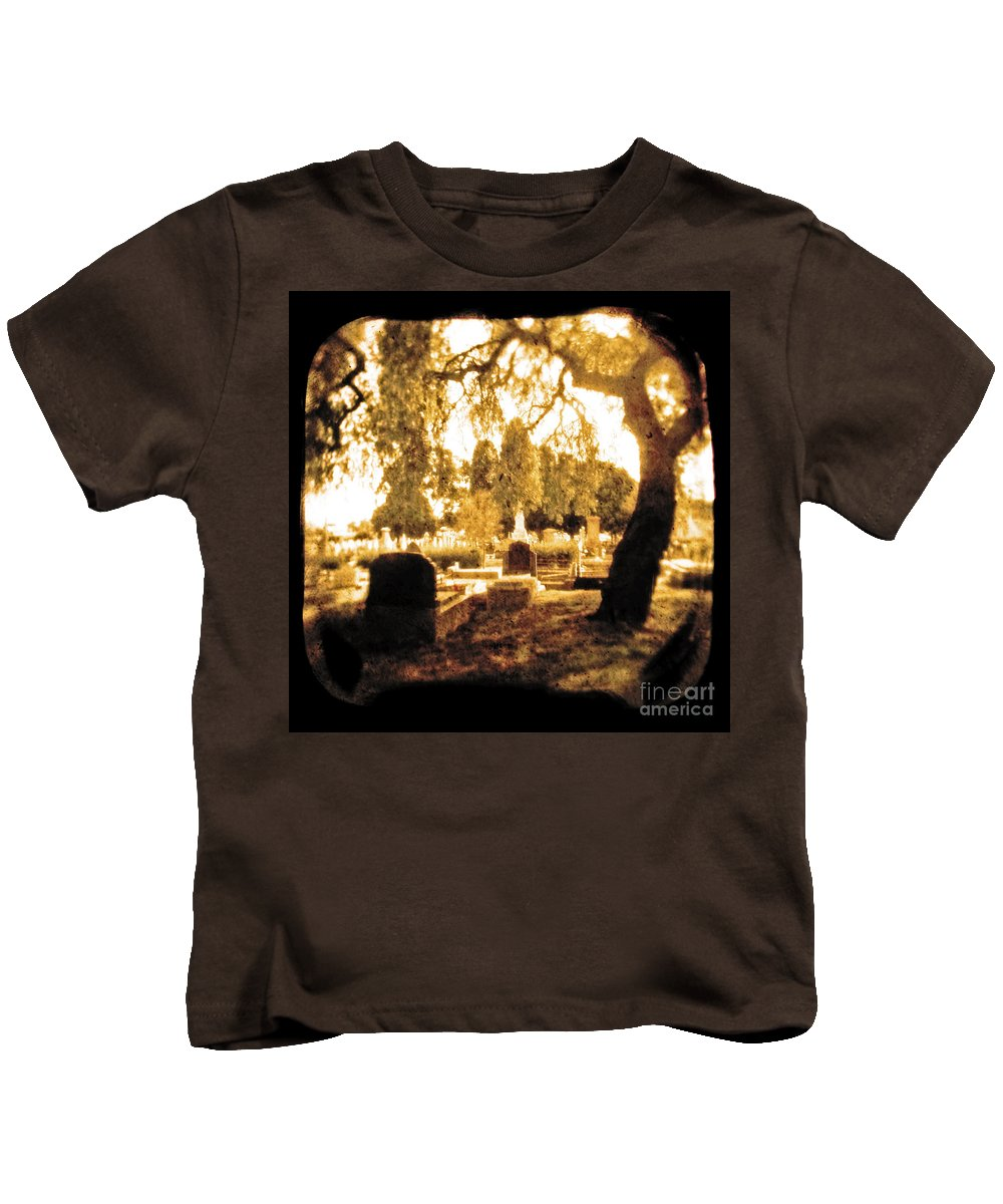 Brown Kids T-Shirt featuring the photograph Repose by Andrew Paranavitana