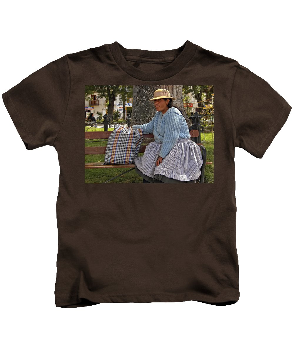 Peru Kids T-Shirt featuring the photograph Respite by Steve Harrington