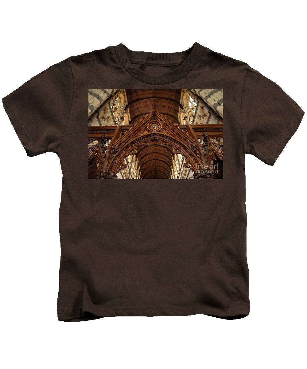 Australia Kids T-Shirt featuring the photograph Saint Marys Church Interior 1 by Bob Christopher