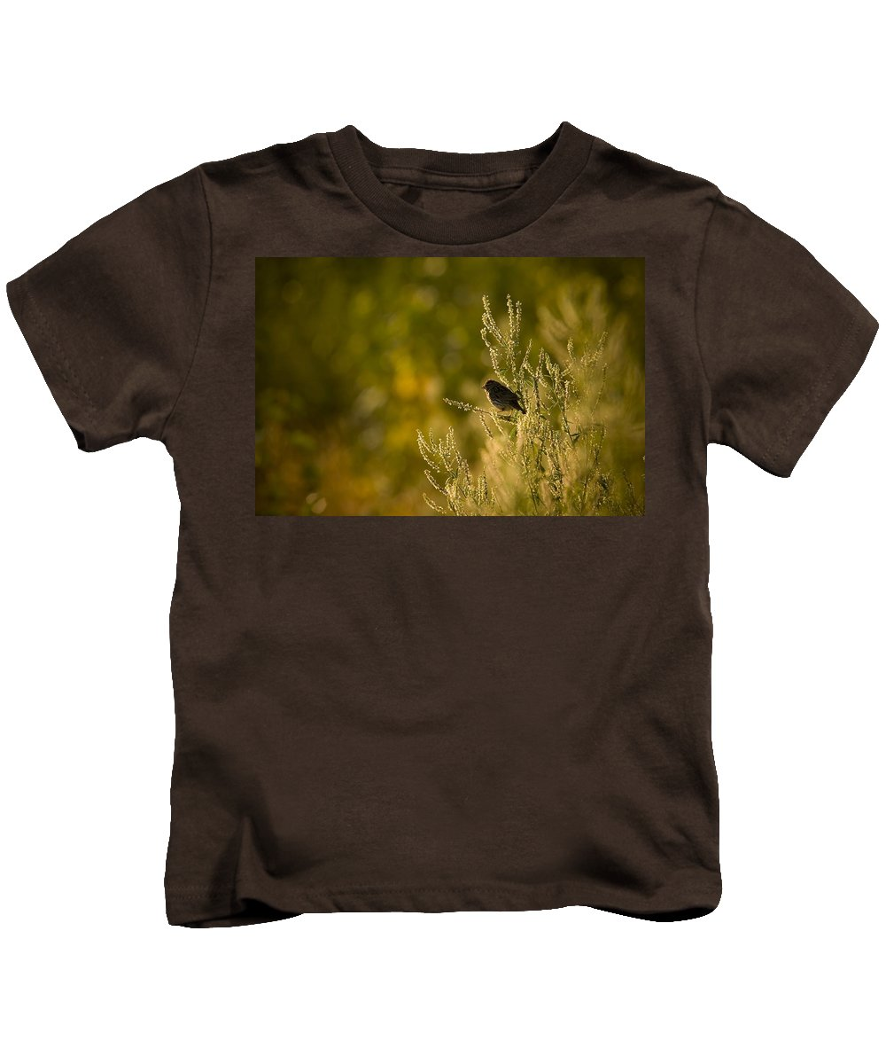 Bird Kids T-Shirt featuring the photograph Savannah Sun by Martin Cooper