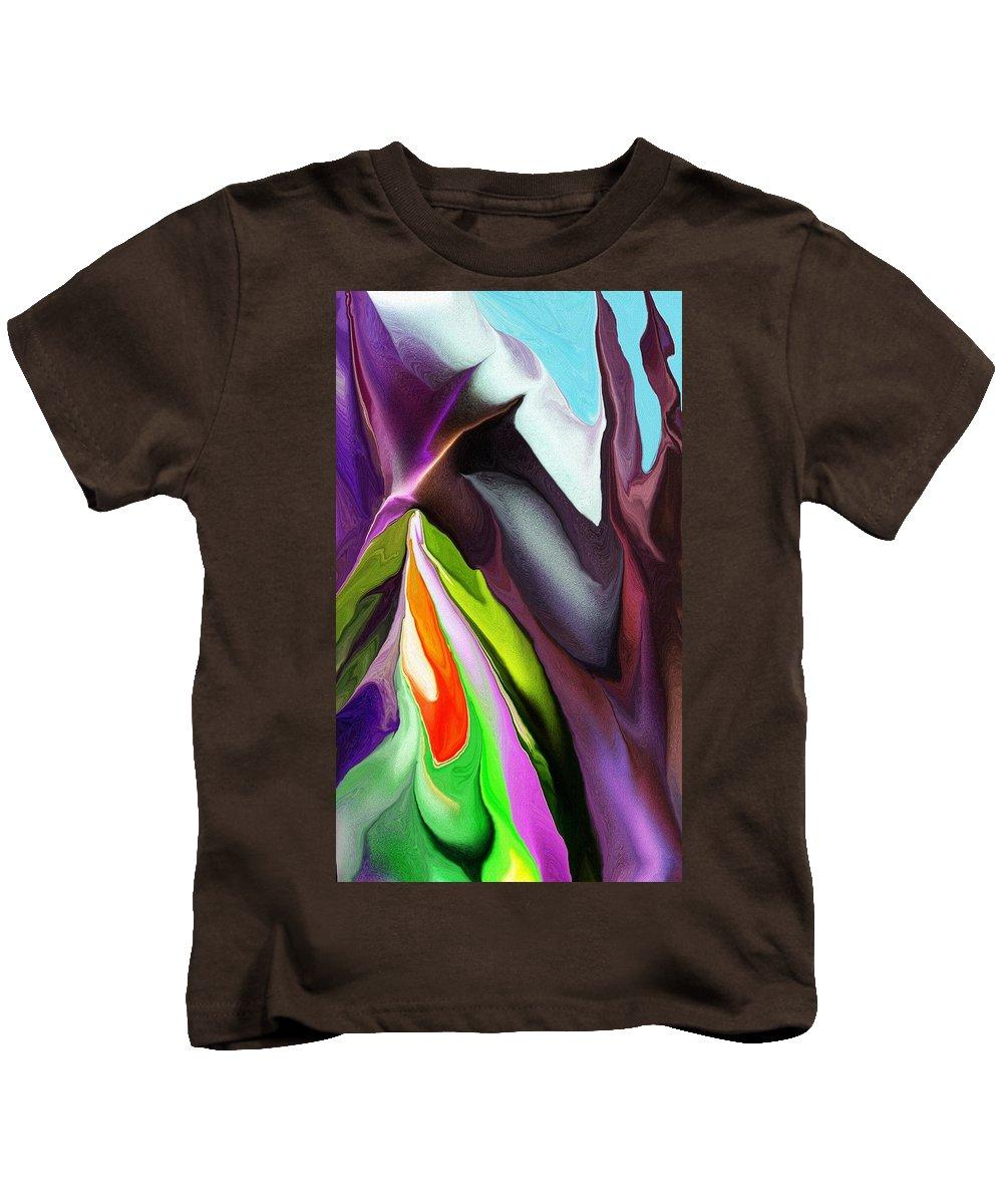 Fine Art Kids T-Shirt featuring the digital art Seasonal Confliction by David Lane