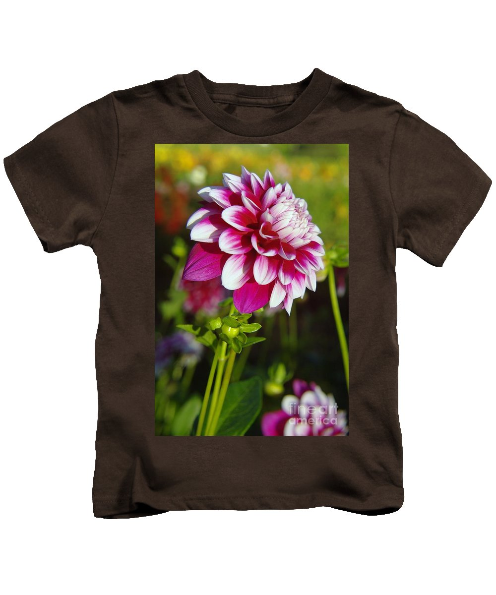 Flowers Kids T-Shirt featuring the photograph Sideview by Jeff Swan