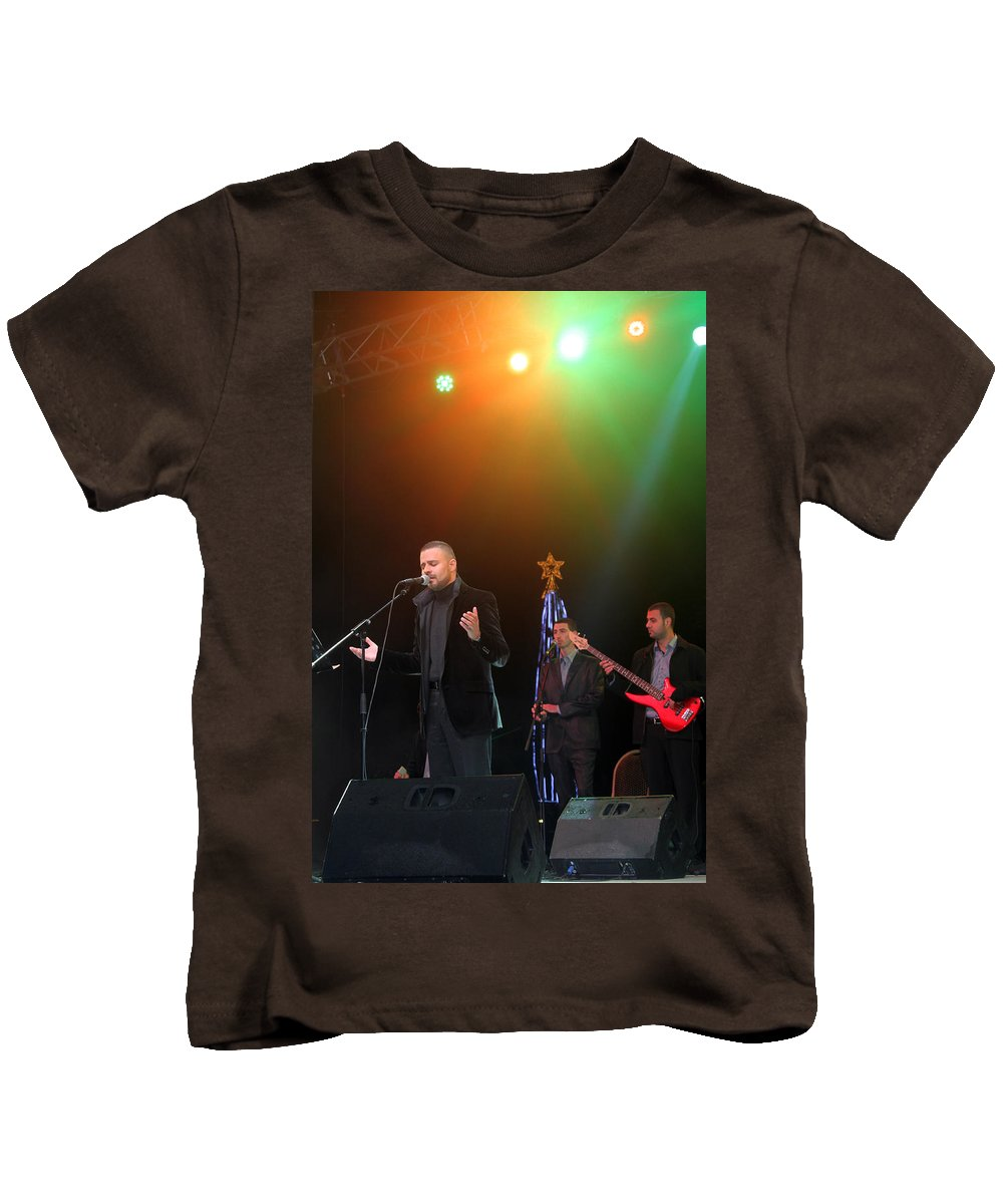 Hasan Kids T-Shirt featuring the photograph Singer Hasan Ammar In Bethlehem by Munir Alawi