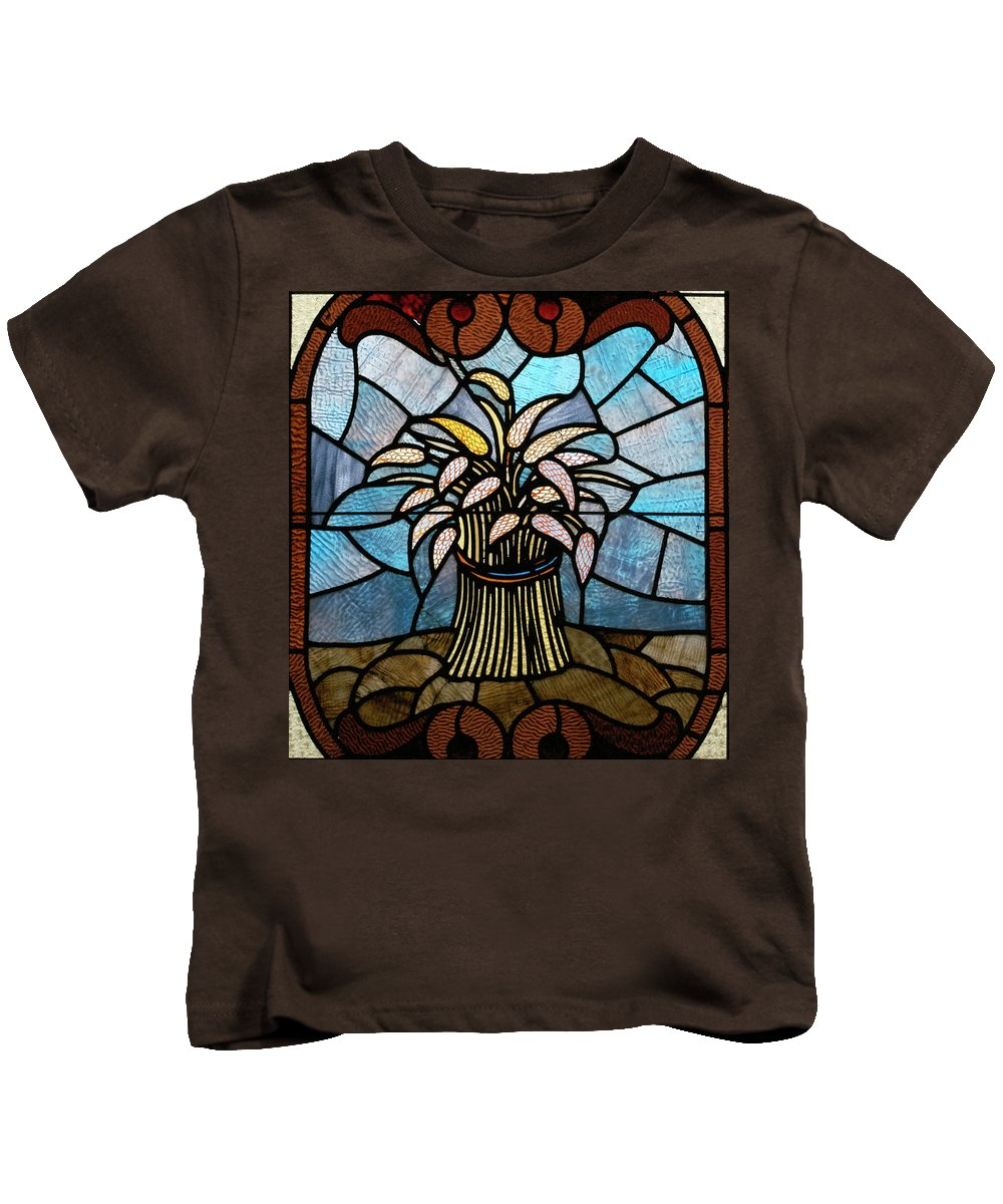 Glass Art Kids T-Shirt featuring the photograph Stained Glass Lc 11 by Thomas Woolworth