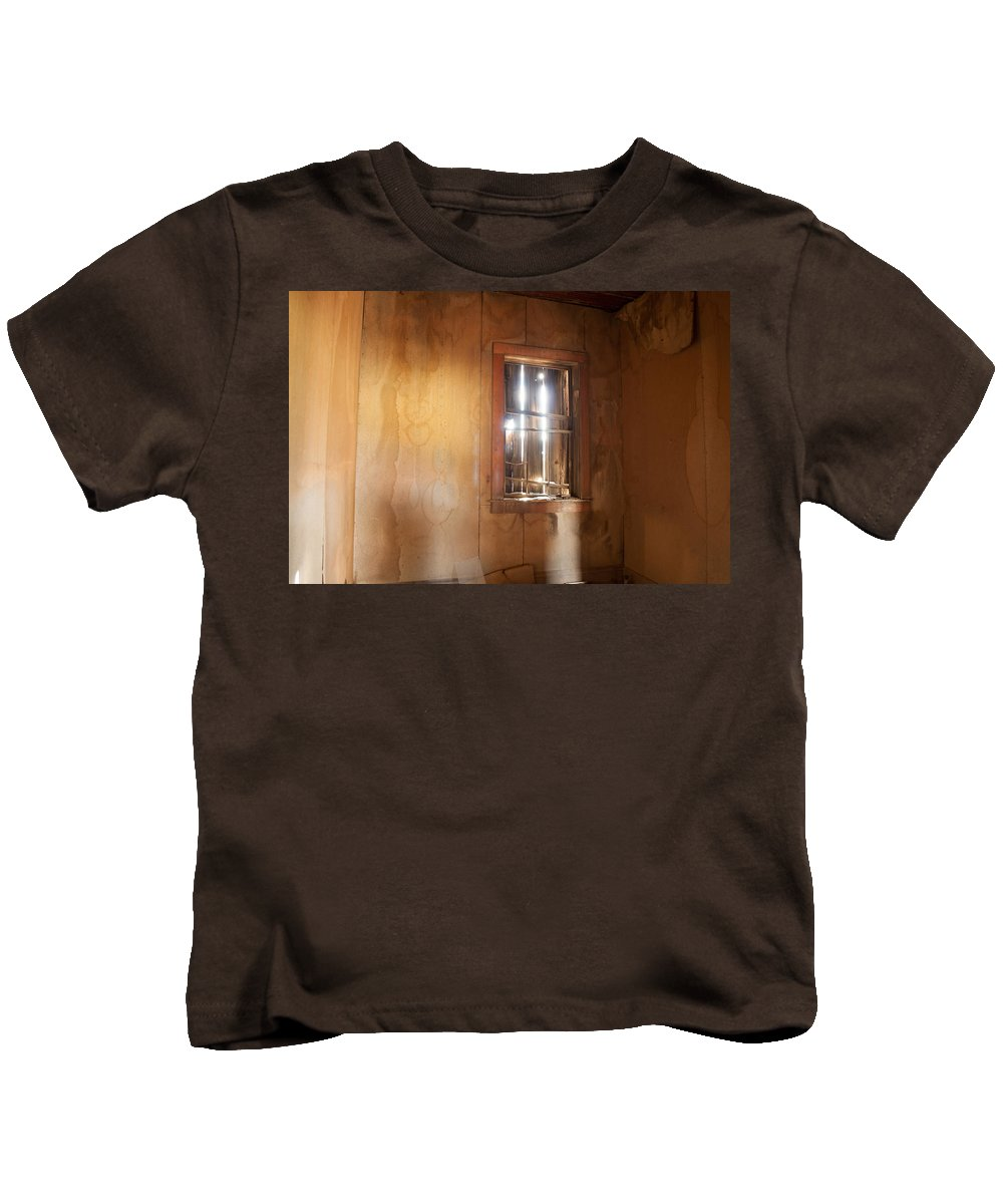 Window Kids T-Shirt featuring the photograph Stains Of Time by Fran Riley
