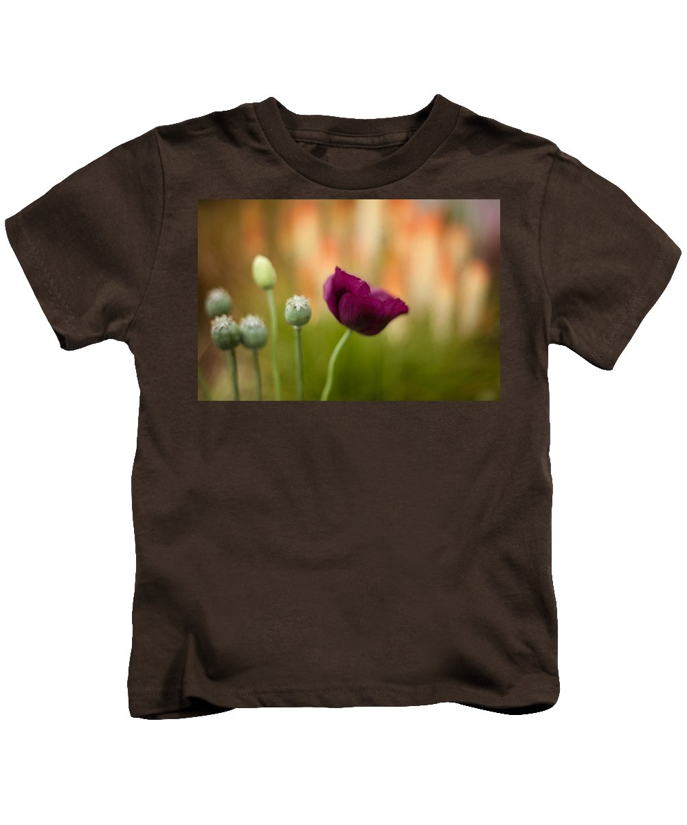 Flower Kids T-Shirt featuring the photograph Stark Poppies by Mike Reid