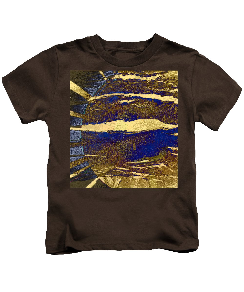Abstract Kids T-Shirt featuring the photograph Sun And Clouds by Lenore Senior