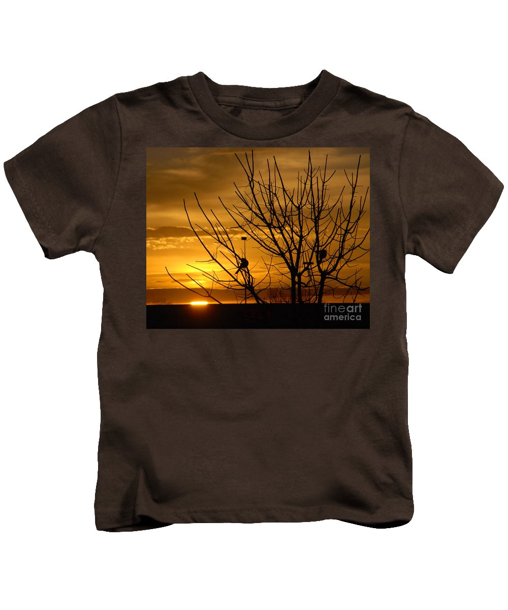 Sunrise Kids T-Shirt featuring the photograph Sunrise Song by Susanne Van Hulst