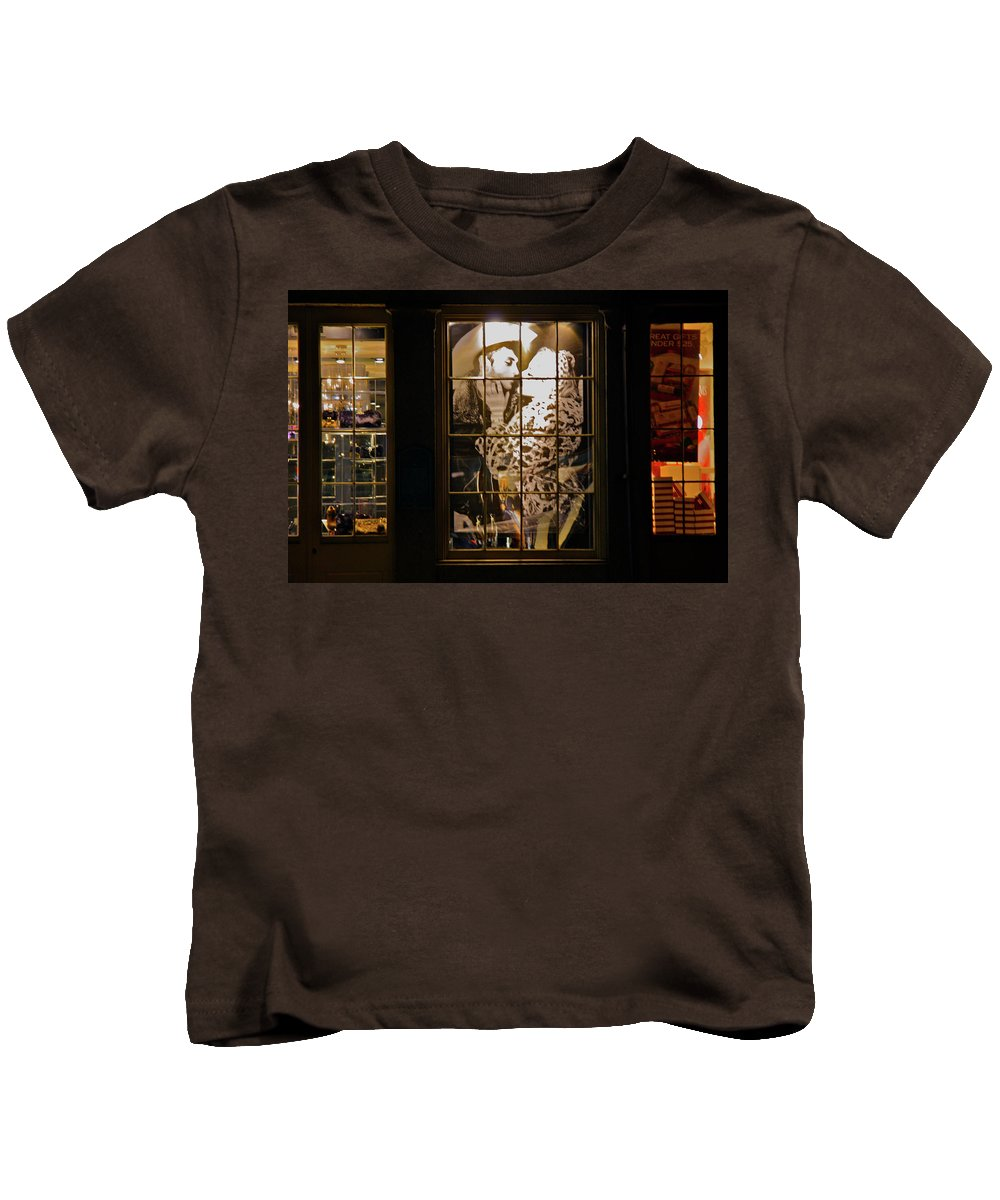 South Street Kids T-Shirt featuring the photograph The Cowboy And His Lady by Terry Wallace