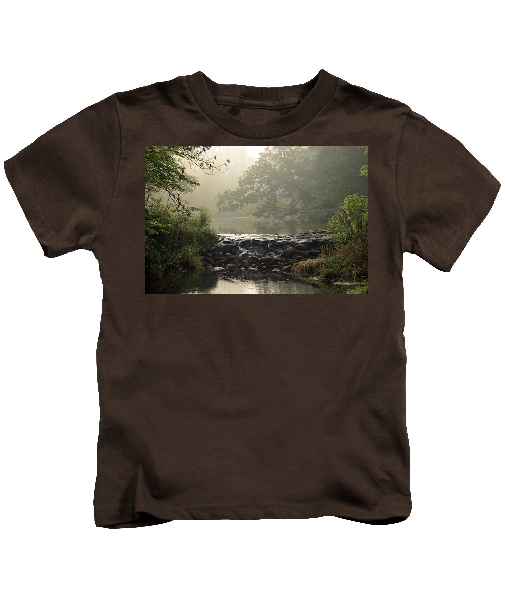 Waterfall Kids T-Shirt featuring the photograph The Crossing by David Arment